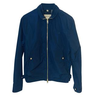 Burrberry Blue Mens Bomber Jacket