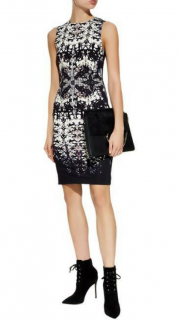 Roberto Cavalli Burnt Shells Print Sleeveless Dress