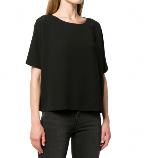 Theory Black Crepe Top