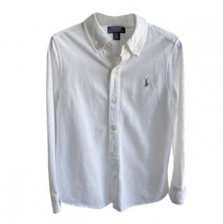 Ralph Lauren White Boys Shirt