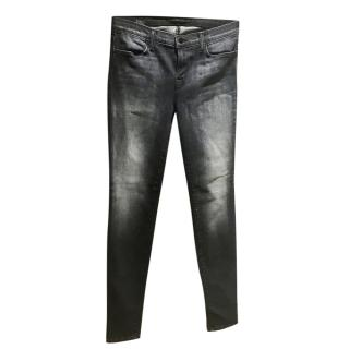 J Brand Black Washed Skinny Jeans