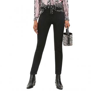 The Kooples Black Lizzy Embellished Jeans