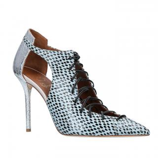 Malone Souliers Snakeskin Spotted Lace-Up Montana Booties