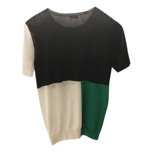 Joseph Colourblock Short Sleeve Jumper