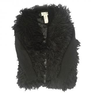 Maison Margiela Black Long Hair Cardigan