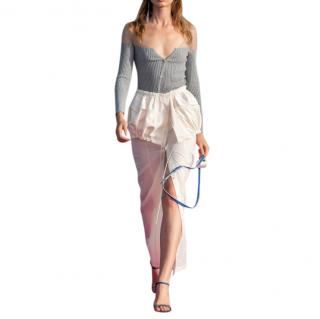 Jacquemus White La Jupe Cueillette Cotton Maxi Skirt