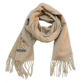 Moschino Beige Teddy Merino Wool Shawl