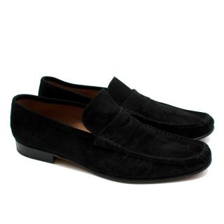 Siemar Black Suede Penny Loafers