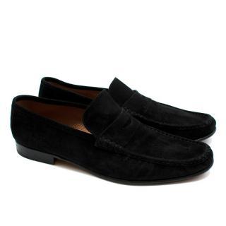 Siemar Black Suede Penny Loafers