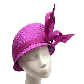 Phillip Treacy Magenta Parasisal Occasion Hat