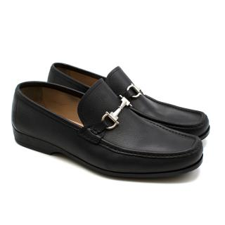 Salvatore Ferragamo Black Leather Horsebit Loafers