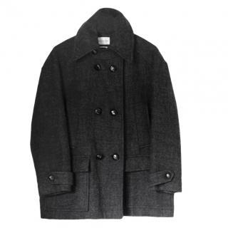 Isabel Marant Etoile Grey Wool Blend Pea Coat