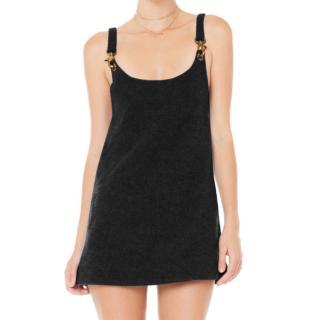 Are You Am I Wool Gold Tone Chain Detail Sleeveless Mini Dress