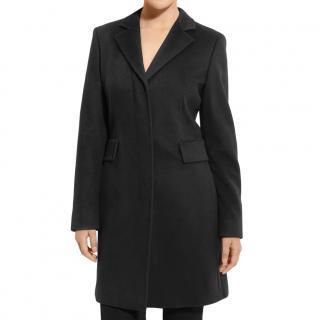 Max Mara Black Virgin Wool Coat