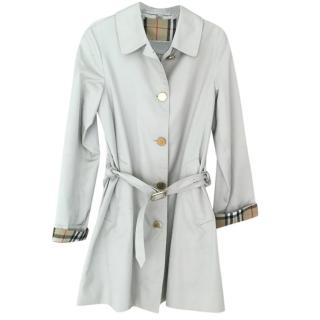 Burberry Cream House Check Lined Belted Trench