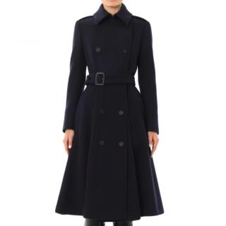 Burberry Prorsum Wool navy trench coat