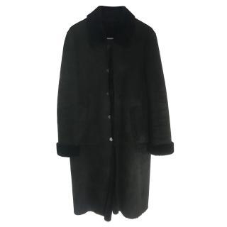 Burberry Black Sheep Shearling Coat