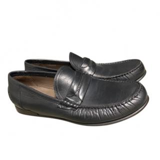 Dolce & Gabbana men's classic black leather moccasins
