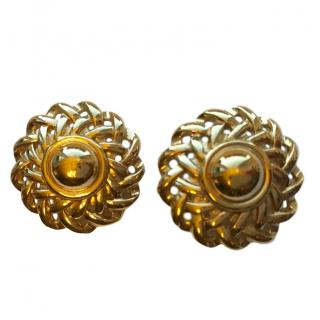 Givenchy Couture Gold Tone Vintage Earrings