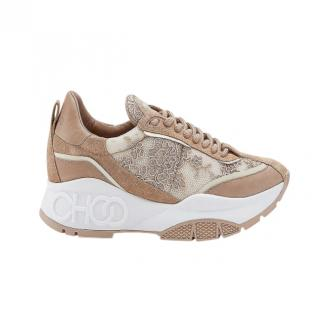Jimmy Choo Ballet lace-and-leather trainers