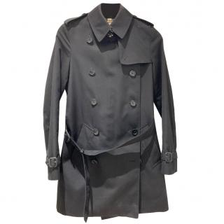 Burberry black short trench coat