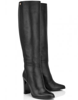 Jimmy Choo Black Haywood 95 Pebbled Leather Boots