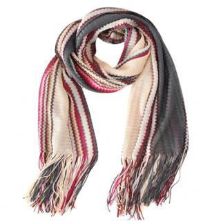 Missoni striped knit shawl