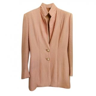 Hardy Amies Vintage boucle wool pink tailored jacket