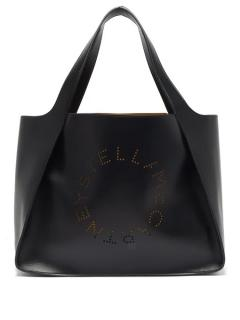 Stella McCartney faux leather perforated tote bag