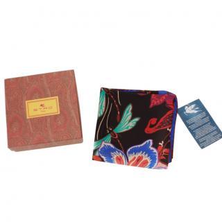 Etro silk floral print multicoloured scarf