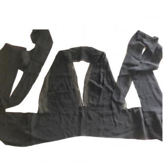 Alberta Ferretti black halterneck wrap top