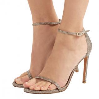 Stuart Weitzman NudistSong platinum sandals