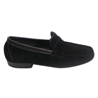 Fratelli Rossetti for Harrods black suede loafers