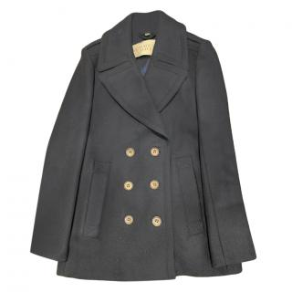 Burberry navy wool blend peacoat