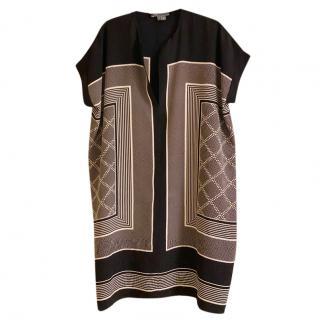 Vince Printed Silk Shift Dress