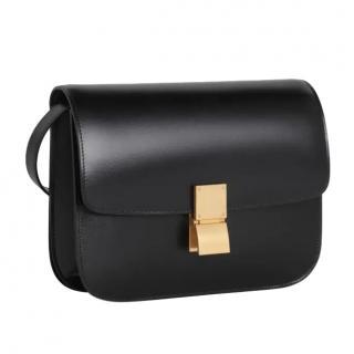 Celine Black Calfskin Box Classic Bag