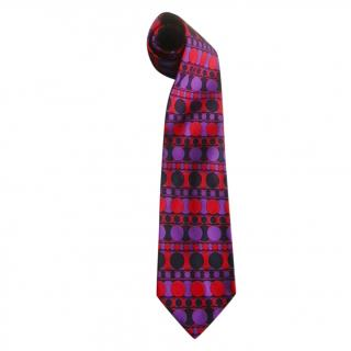 Jean Charles de Castelbajac Silk Embroidered Tie