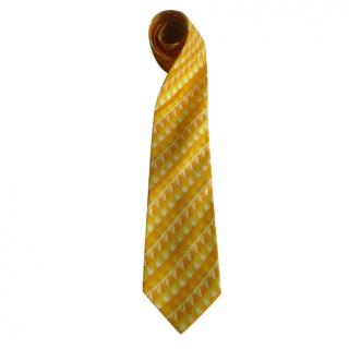 Jean Charles de Castelbajac Yellow Embroidered Silk TIe