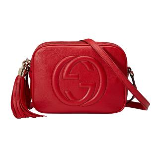 Gucci Red Leather Soho small leather disco bag