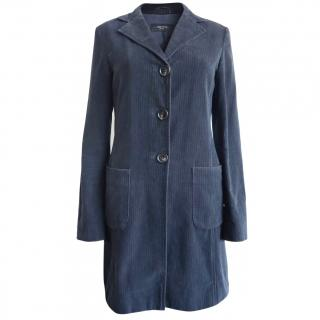 Weekend Max Mara Blue Velvet Coat