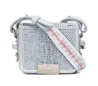 Off White C/O Virgil Abloh Crystal Embellished Baby Binder Bag
