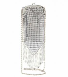 Paco Rabanne Pampilles Chainmail Crystal Embellished Shoulder Bag