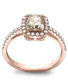 William & Son Fancy Yellow & Pink Diamond Set 18kt Gold Ring
