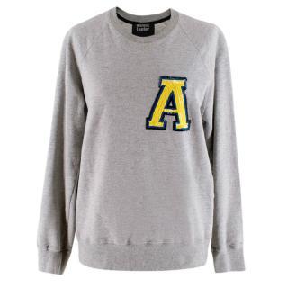 Markus Lupfer Grey Cotton A Sequin Sweatshirt