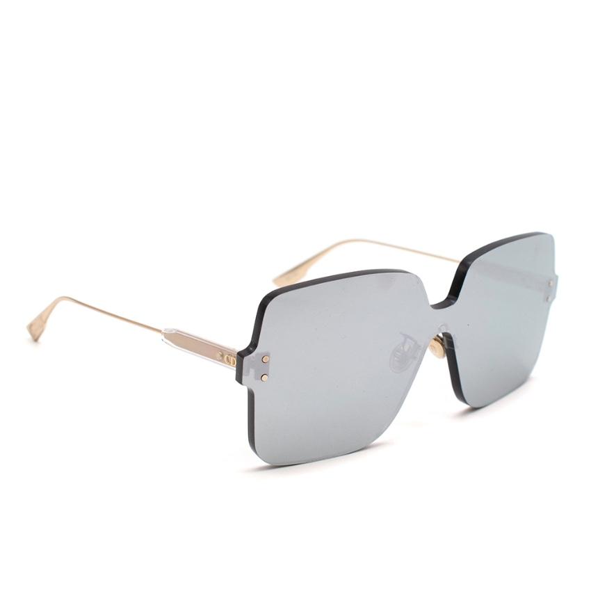 Dior Reflective Grey Squared Sunglasses