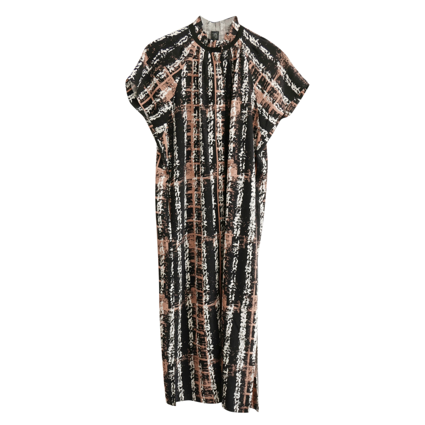 Zero+ Maria Cornejo Abstract Print High Neck Dress