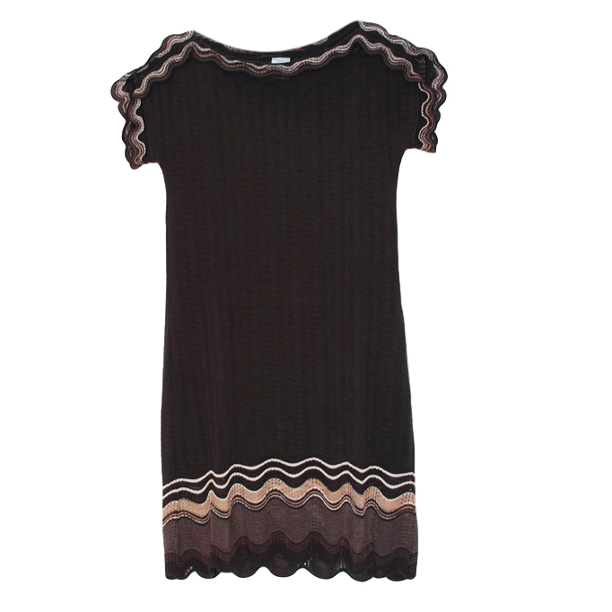 Missoni Black Scalloped Knit Dress