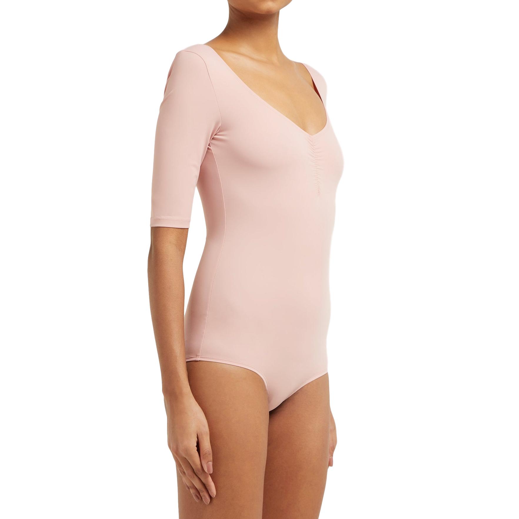 Ernest Leoty Blush Pink Ruched Bodysuit