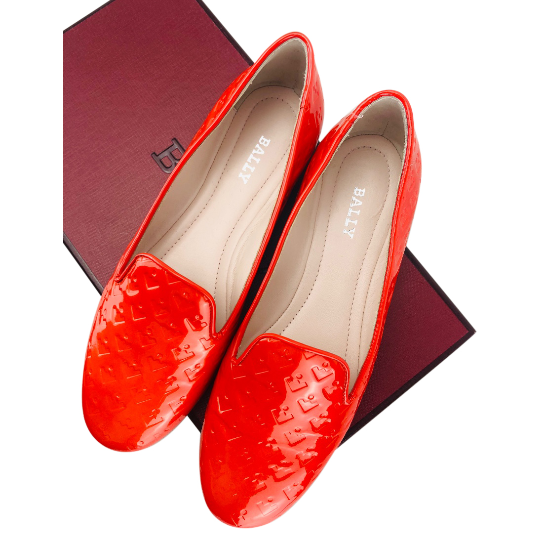 Bally Red Berenice Ballerina Flats