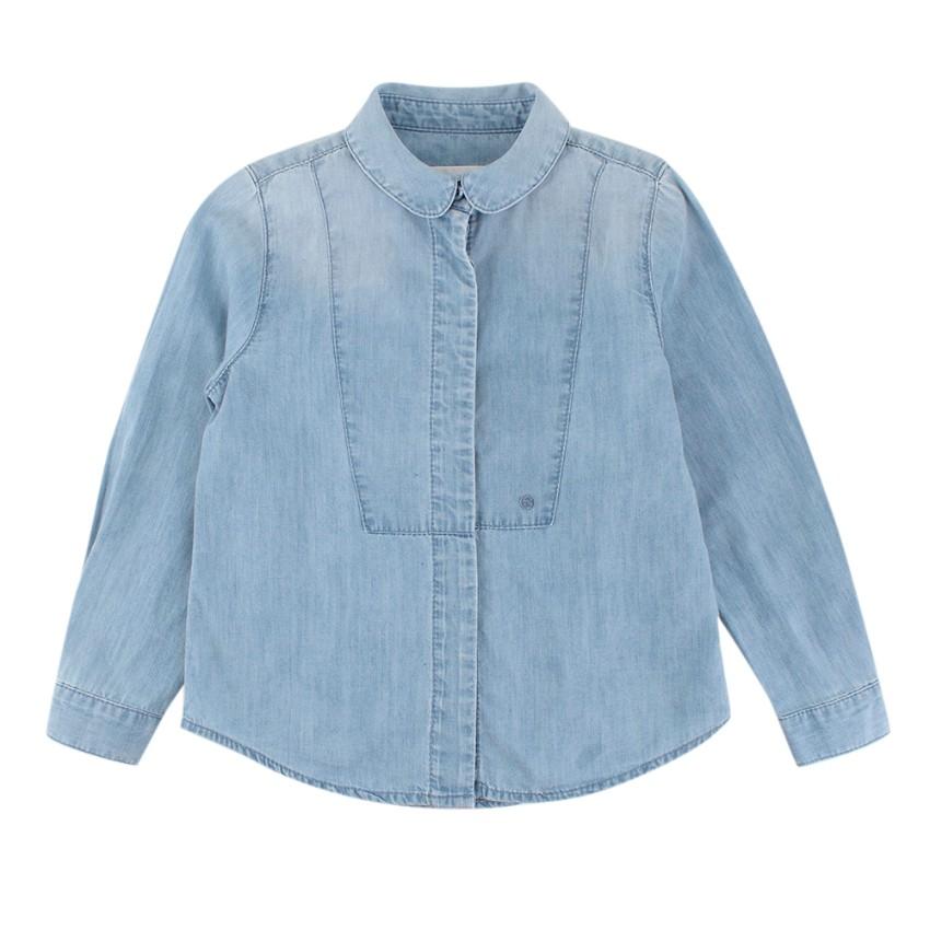 Gucci Kid's Blue Cotton Denim Shirt